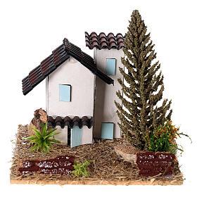 Casas em miniatura estilo provençal para presépio 13x13x13 cm s1