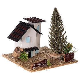 Casas em miniatura estilo provençal para presépio 13x13x13 cm s3