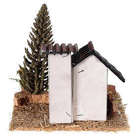 Casas em miniatura estilo provençal para presépio 13x13x13 cm s4