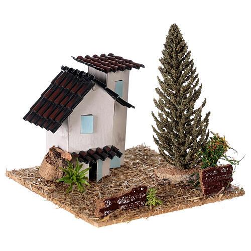 Casas em miniatura estilo provençal para presépio 13x13x13 cm 3