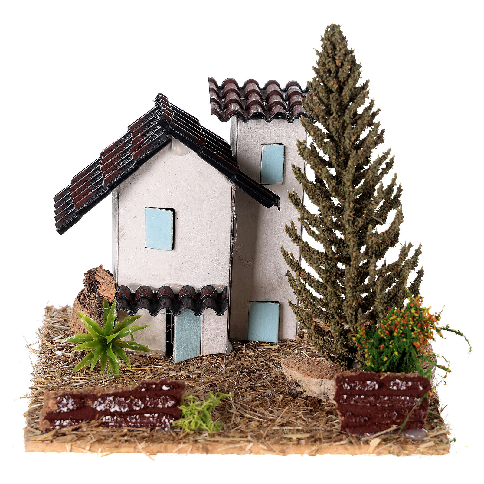 Provençal houses 10x10x10 cm for Nativity scene 4