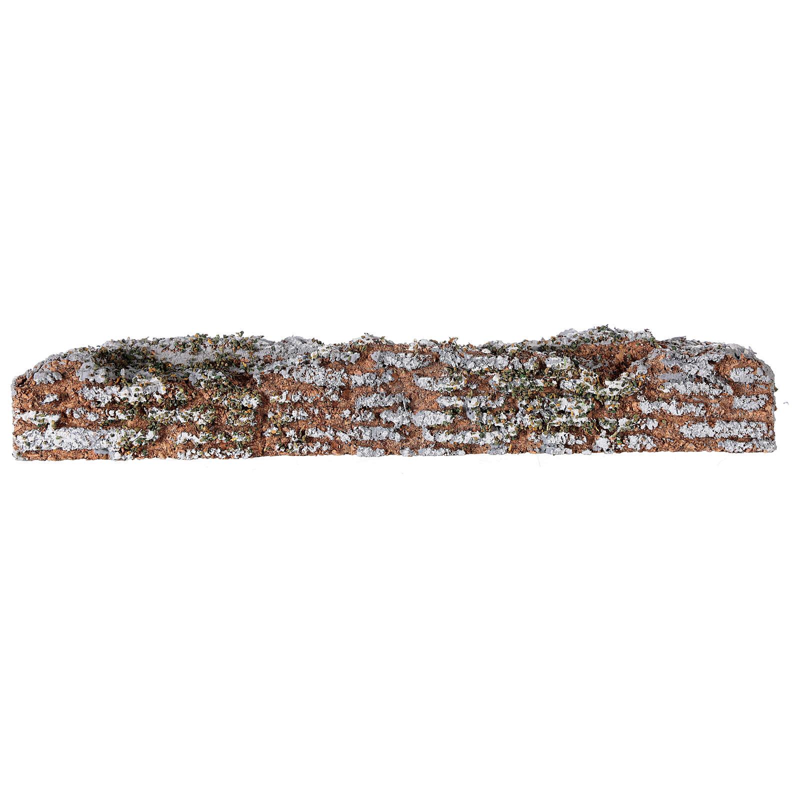 Muro de cortiça miniatura presépio; medidas: 19x2x3 cm 4