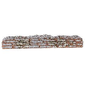 Muro de cortiça miniatura presépio; medidas: 19x2x3 cm s1