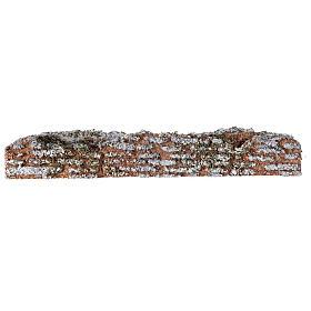 Muro de cortiça miniatura presépio; medidas: 19x2x3 cm s3