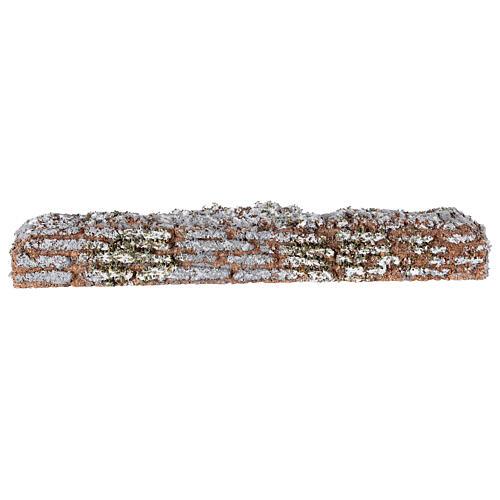 Muro de cortiça miniatura presépio; medidas: 19x2x3 cm 1