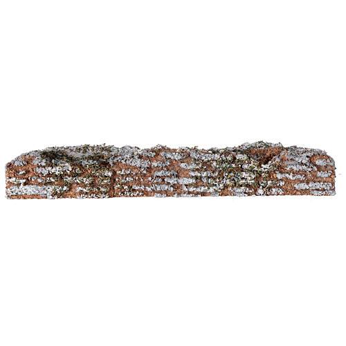 Muro de cortiça miniatura presépio; medidas: 19x2x3 cm 3