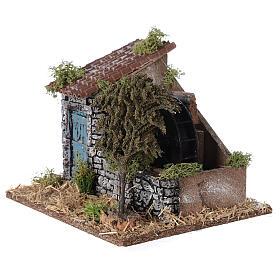 Moulin à eau style provençal 25x20x20 cm s2