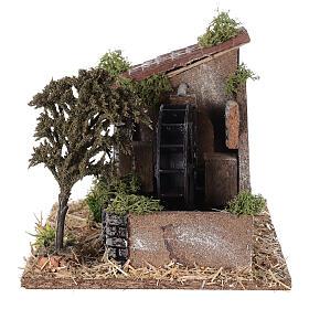 Moulin à eau style provençal 25x20x20 cm s4