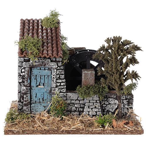 Moulin à eau style provençal 25x20x20 cm 1