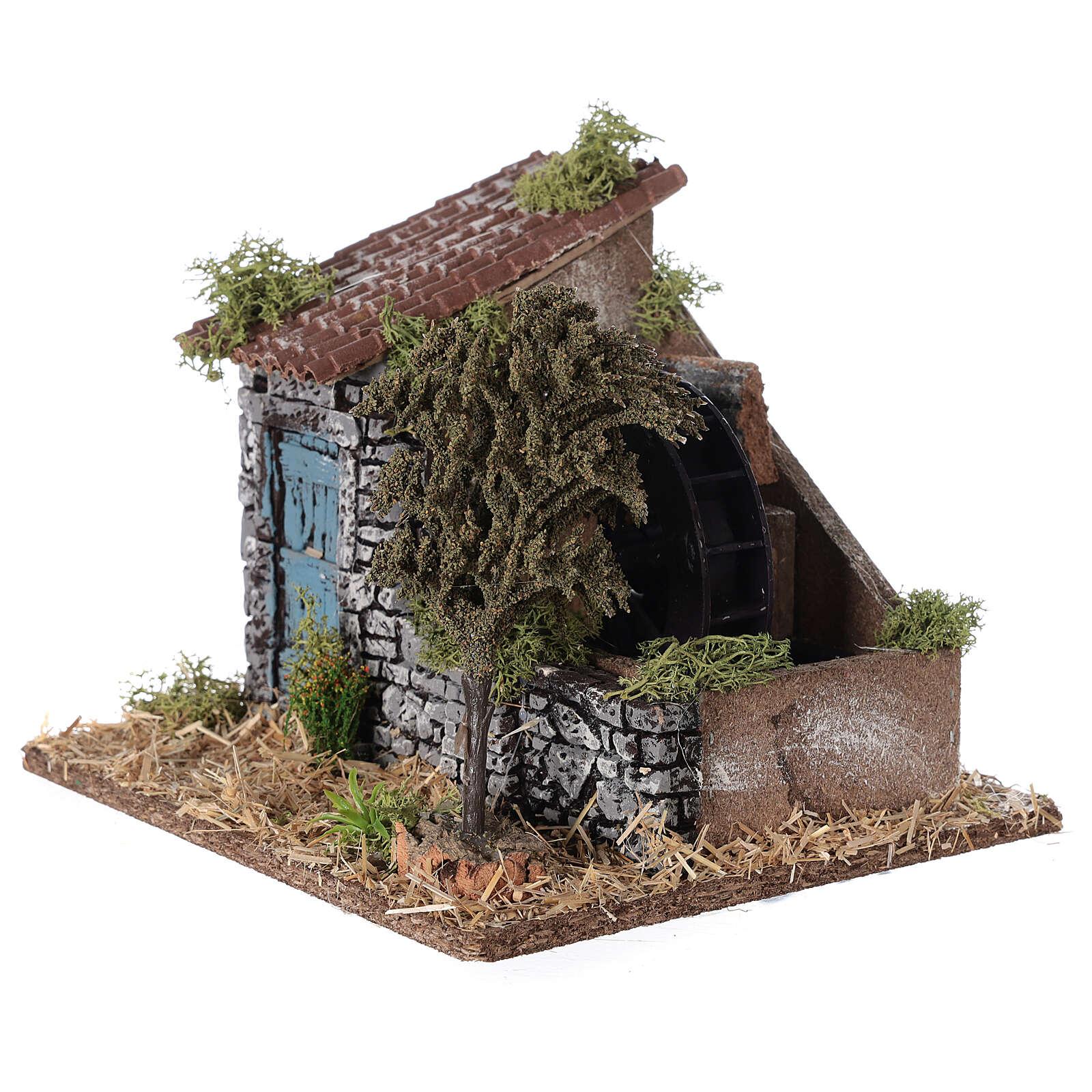 Moinho de água miniatura estilo provençal; medidas: 25x20x20 cm 4