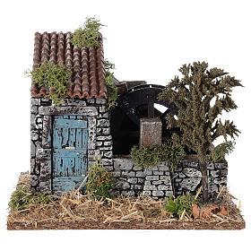 Moinho de água miniatura estilo provençal; medidas: 25x20x20 cm s1