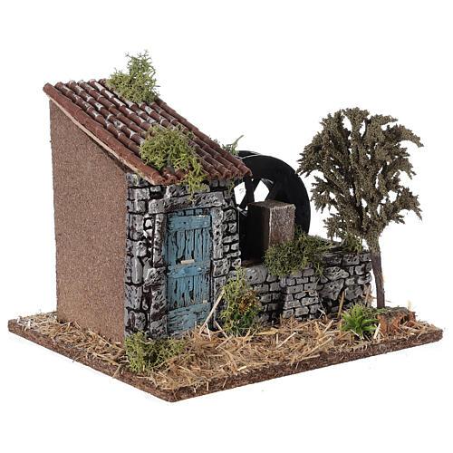 Moinho de água miniatura estilo provençal; medidas: 25x20x20 cm 3