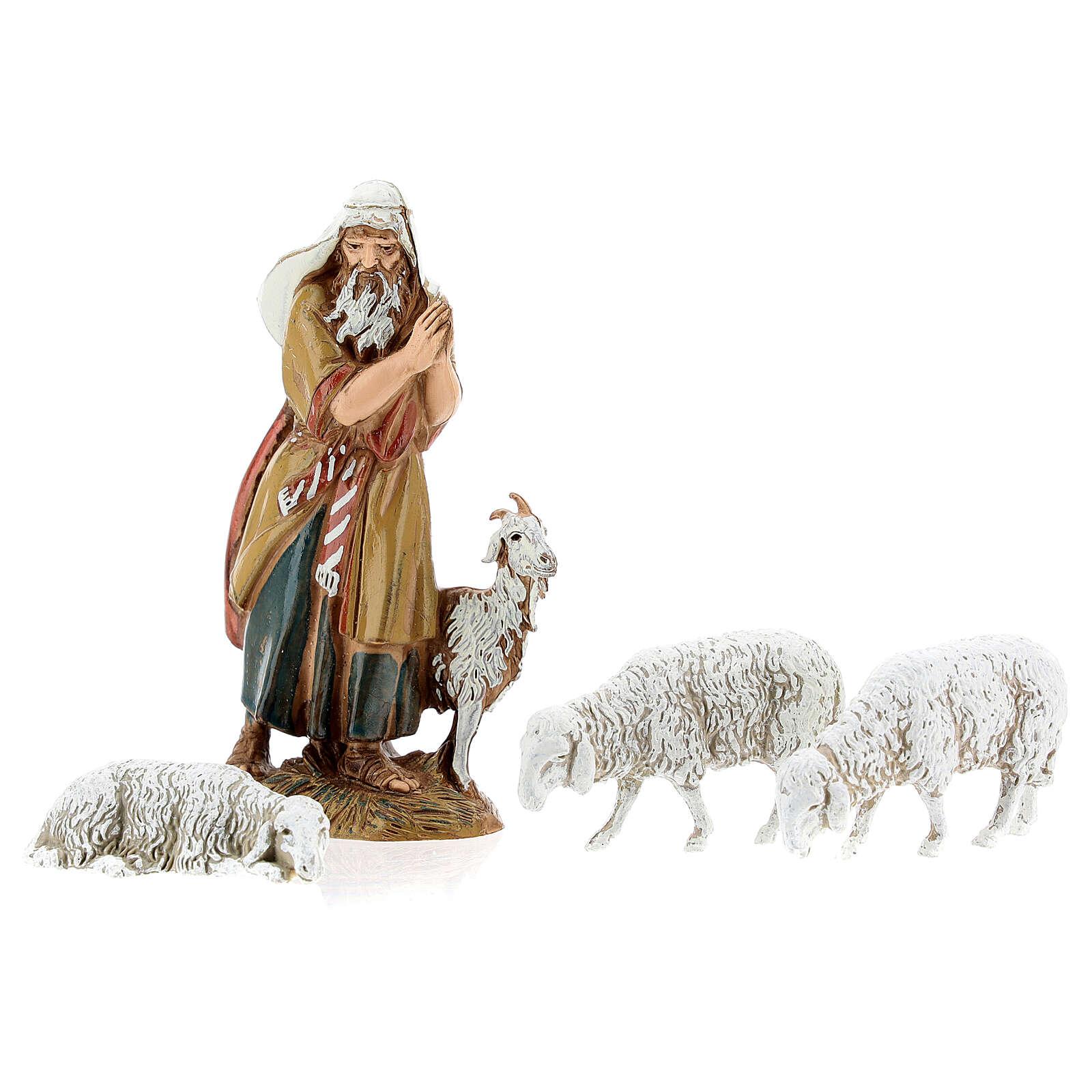 Fazenda estilo provençal com figuras presépio de Natal altura média 10 cm; medidas: 55x24x21 cm 4