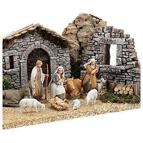 Fazenda estilo provençal com figuras presépio de Natal altura média 10 cm; medidas: 55x24x21 cm s4