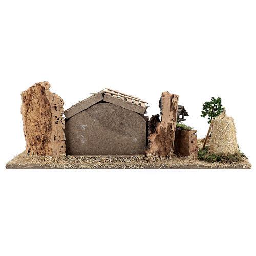 Fazenda estilo provençal com figuras presépio de Natal altura média 10 cm; medidas: 55x24x21 cm 12