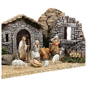 Provençal style farm with 10 cm figurines 55x25x20 cm s4