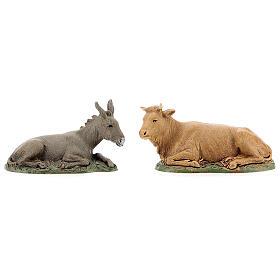 Provençal style farm with 10 cm figurines 55x25x20 cm s8