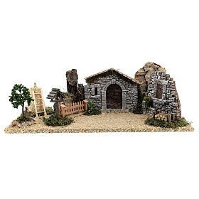 Provençal style farm with 10 cm figurines 55x25x20 cm s9