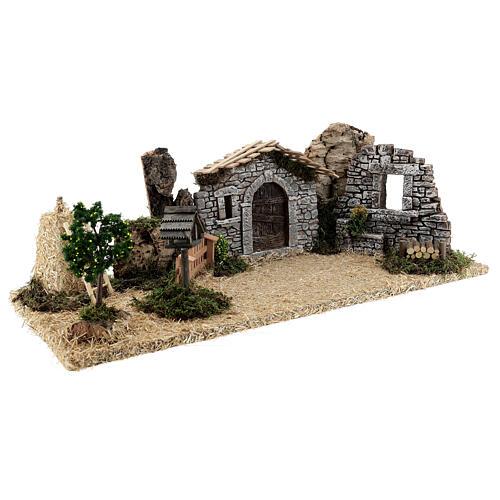 Provençal style farm with 10 cm figurines 55x25x20 cm 11