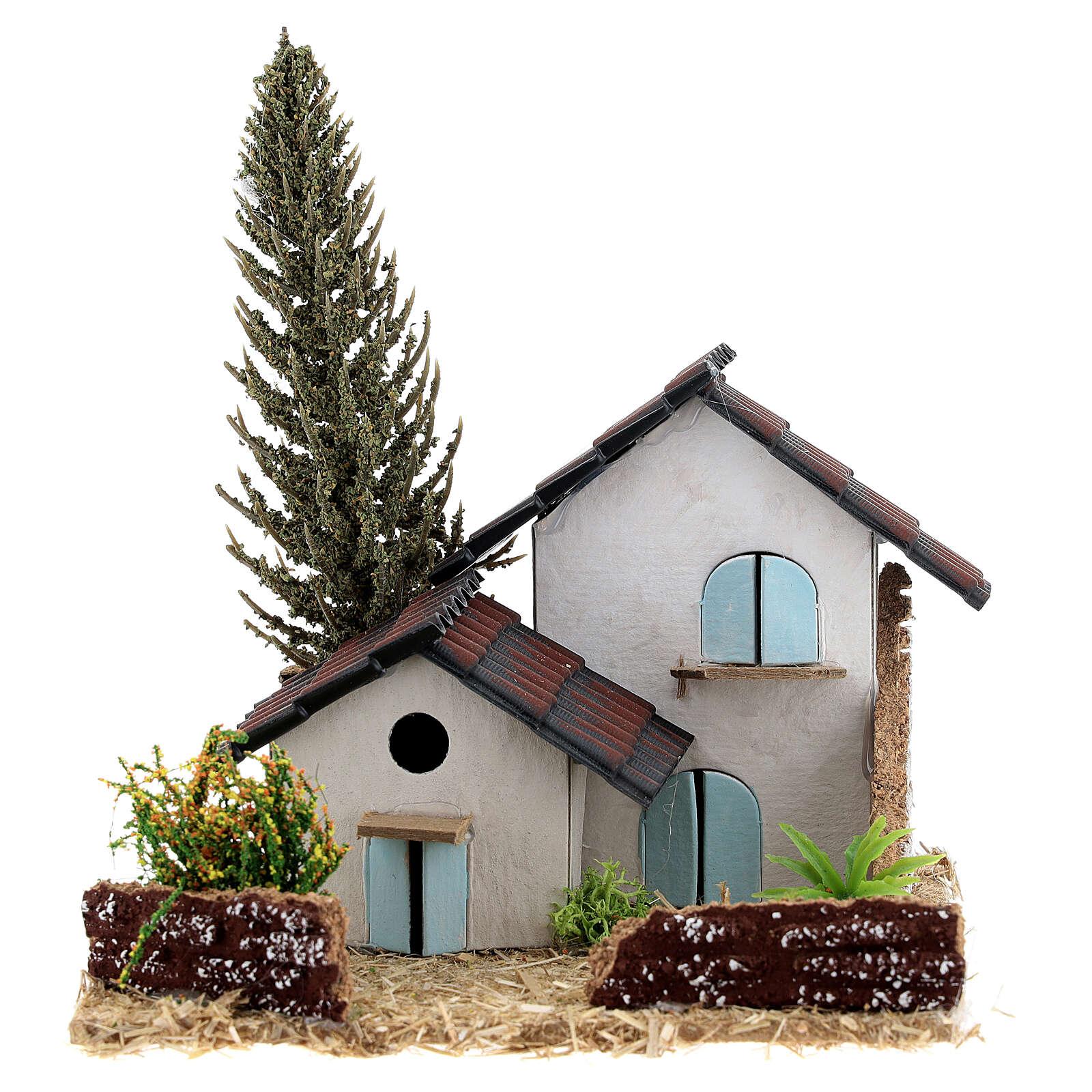 Groupe maisons style provençal 15x15x15 cm 4