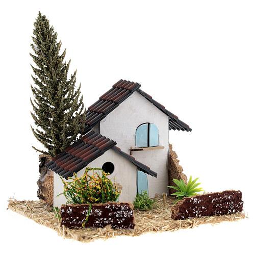 Grupo de casas em miniatura estilo provençal 13x13x13cm 3