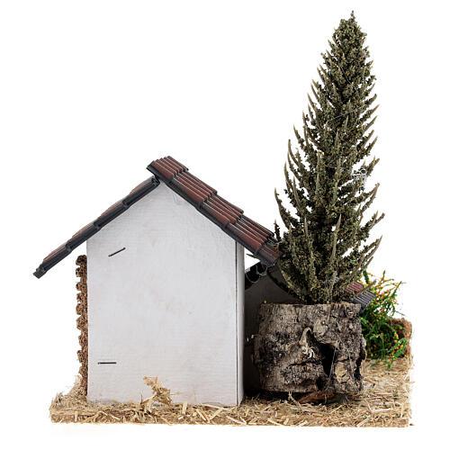 Grupo de casas em miniatura estilo provençal 13x13x13cm 4