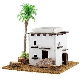 Arabic house with palm tree 15x10x15 cm s2