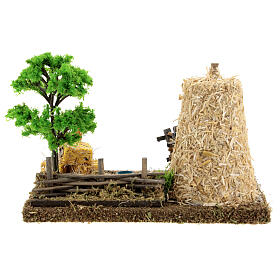 Nativity scene decor: vegetable garden corner with barn 20x15x15 cm s4