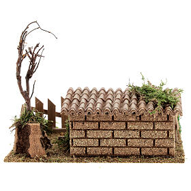 Do-it-yourself Nativity scene pig pen 19x16x16 cm s4