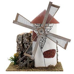 Mediterranean style windmill 19x13x24 cm s1