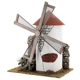 Mediterranean style windmill 19x13x24 cm s2