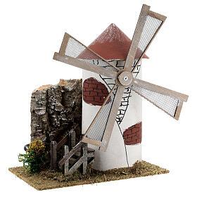 Mediterranean style windmill 19x13x24 cm s3