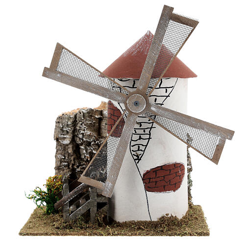 Mediterranean style windmill 19x13x24 cm 1