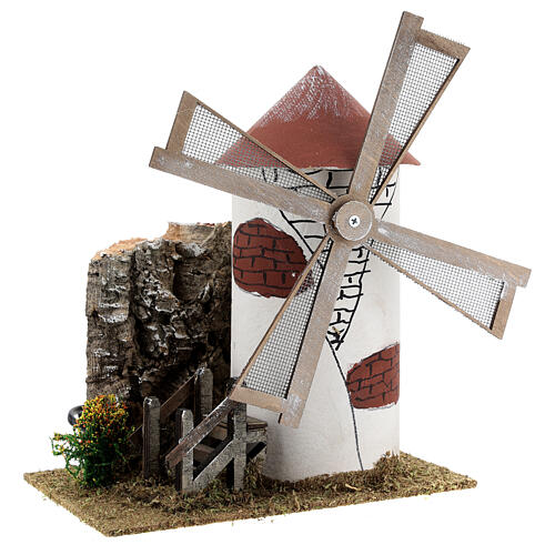 Mediterranean style windmill 19x13x24 cm 3