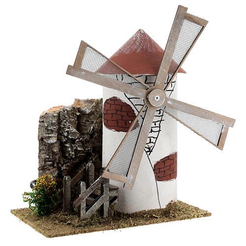 Mulino de viento estilo mediterráneo cm 20x15x25 3