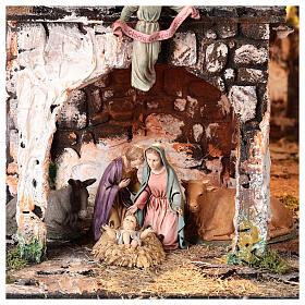 Village for Nativity scene in medieval style of dimensions 56x77x48 cm s2