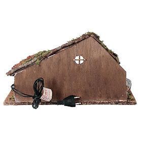 Cabana com redil de ovelhas cenário presépio napolitano figuras altura média 8-10 cm; medidas: 22x38x20 cm s4