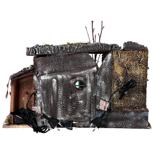 Temple ruins fountain and house Neapolitan Nativity scene 40x50x30 for statues 8 cm 6