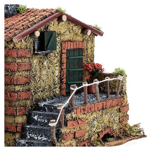Brick house for 6 cm nativity statues 25x30x20 cm 2