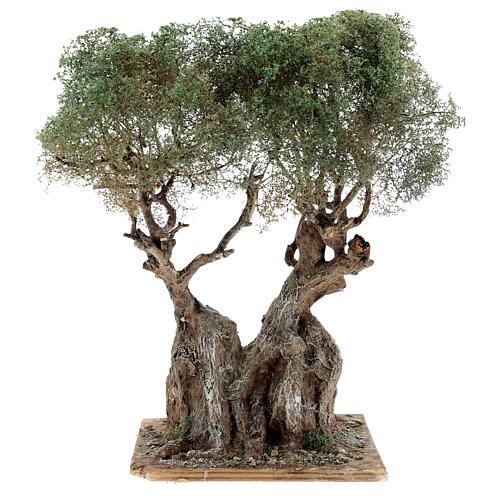 Albero ulivo realistico presepe napoletano legno cartapesta h reale 20 cm 1