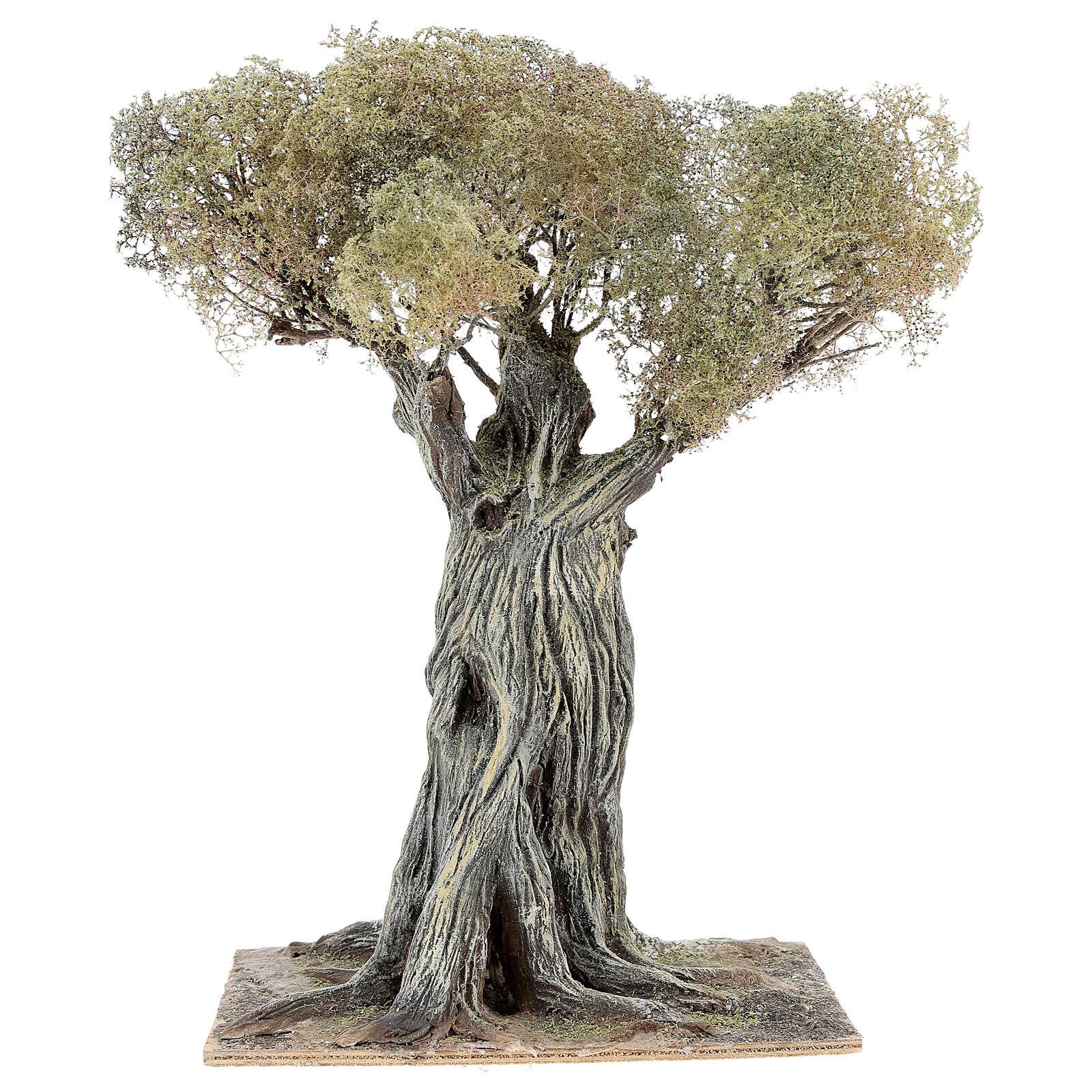 Árbol olivo belén napolitano 30 cm cartón piedra madera 4