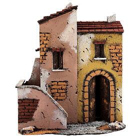Maisons adjacentes crèche napolitaine 25x25x15 cm pour santons 8-10 cm s1