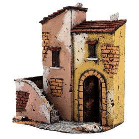 Maisons adjacentes crèche napolitaine 25x25x15 cm pour santons 8-10 cm s2