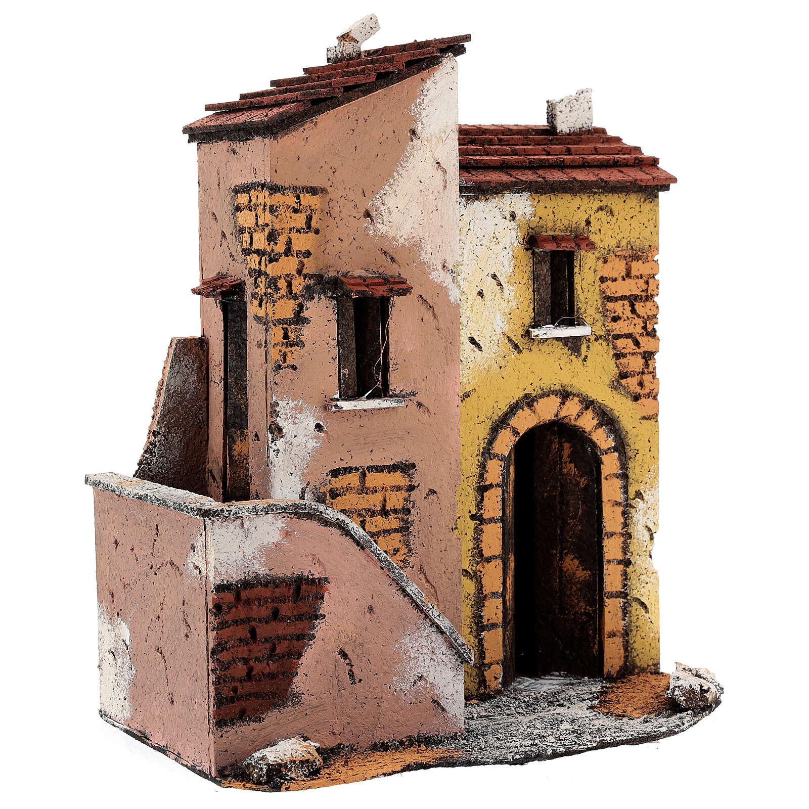 Adjacent houses for Neapolitan Nativity Scene 25x25x15 cm for 8-10 cm figurines 4