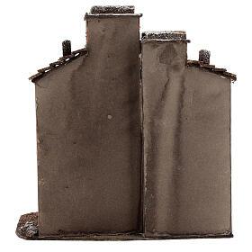 Décor maisons liège crèche napolitaine 25x25x15 cm pour santons 10 cm s4