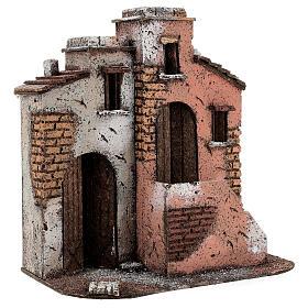 Casas em miniatura de cortiça cenário para presépio de Natal com figuras de altura média 10 cm, 26,5x25x15 cm s3