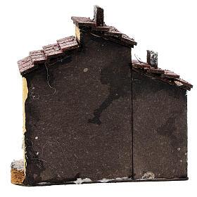 Case adiacenti sughero presepe napoletano 15x15x10 cm per statue 3 cm s4