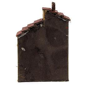 Casa de cortiça com muros cor ocre para presépio napolitano com figuras altura média 4 cm, medidas: 15,5x9,5x8 cm s4