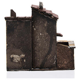 Couple maisons miniature liège 15x15x10 cm crèche napolitaine 3 cm s4