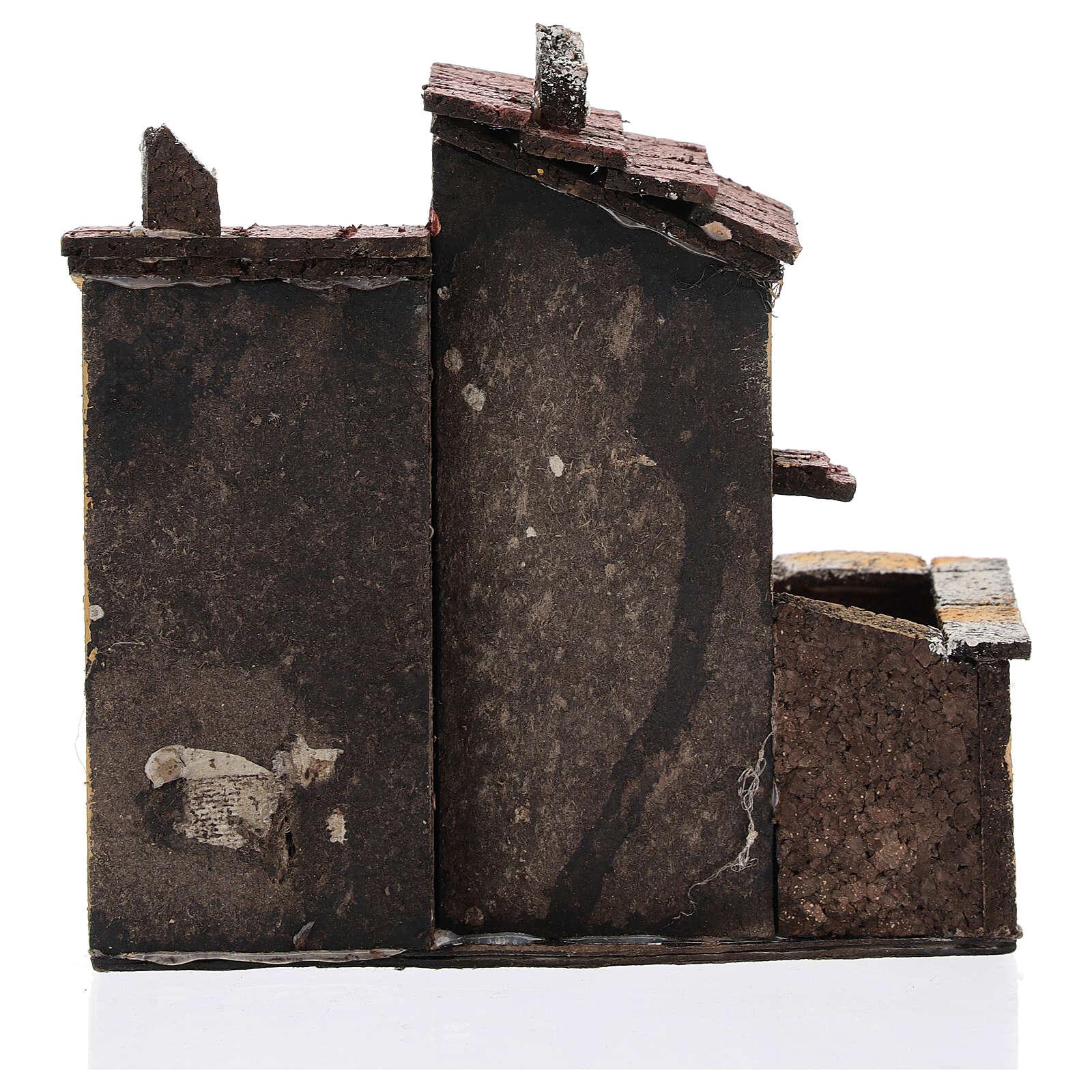 Coppia case miniatura sughero 15x15x10 presepe napoletano 3 cm 4